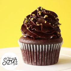 Vegan choc cupcakes with a rich choc avocado ganache frosting!