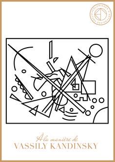 Mises à disposition et téléchargements de coloriages d'art « à la manière de », réalisés dans le cadre d'ateliers numériques avec des enfants de 3 à 7 ans. Painting Lessons, Art Lessons, Kandinsky Art, Pattern Coloring Pages, Coloring Sheets, Montessori Art, Ecole Art, Bohemian Art, Famous Art