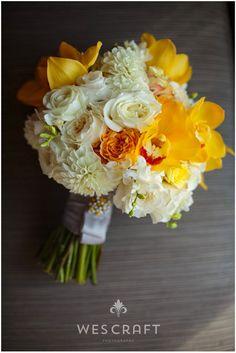 Featured Bouquet | Romantic Yellow and White Bouquet | Naperville Wedding Florist