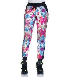 REDFOX Tie dye jogger pants Elastic waistband Adjustable drawstring closure all-over tie dye and paisley print Inner terry lining