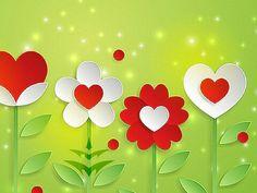 * Flower & hearts