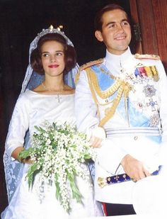 King Constantine ll and Princess Anne Marie of Denmark Queen Anne, Queen Elizabeth, Greek Royalty, Greek Royal Family, Kingdom Of Great Britain, Royal House, Kaiser, Royal Weddings, Wedding Styles