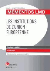 Les institutions de l'Union européenne 5e édition