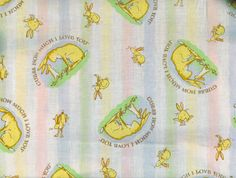 FABRIC Bunnies Rabbits Guess How Much I Love You Bunnies 2 yards