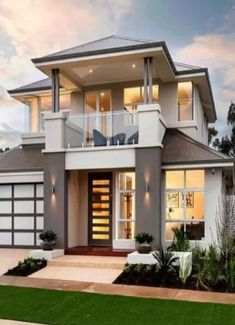Best Modern Home Architectural Styles and Designs. Find out what style of home you like best.Leave a comment and see what other people like.Most people like several home architectural styles. 2 Storey House Design, Bungalow House Design, House Front Design, Small House Design, Dream Home Design, Modern House Design, Duplex House, Loft House, House 2