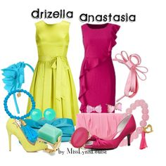 Anastasia and Drizella Anastasia And Drizella, Cinderella Outfit, Disneybound, Disney Style, Dapper, Betsey Johnson, Cool Outfits, Plus Size, Summer Dresses