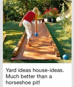 Backyard idea that my husband so would love! #Contest