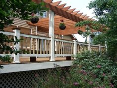 While painting the entire outside of a house might be impossible for most home-owners, staining a deck is a project that can be done in one weekend. Deck Refinishing, Kirkland House, Diy Deck, Exterior Paint, Pergola, Photo Galleries, Outdoor Structures, House Painters, Gallery