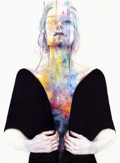 Watercolors by Silvia Pelissero a.k.a. Agnes Cecile   http://ineedaguide.blogspot.com/2015/03/silvia-pelissero-aka-agnes-cecile.html   #watercolors #illustrations #art