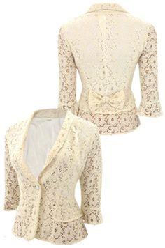 A lace blazer