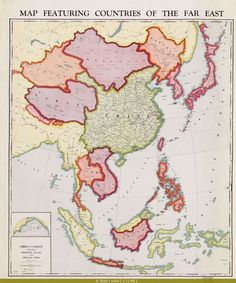 Map of East & Southeast #Asia in 1932.