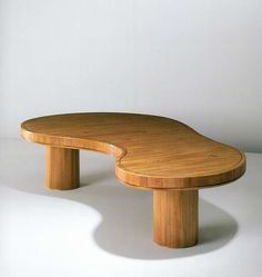 Jean Royère; Wooden Coffee Table, 1959.