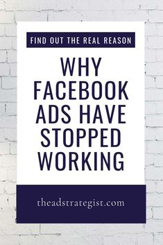 """Start getting results for your business with this Facebook strategy. Amanda Bond discovers the """"Real Reason Facebook Ads Have Stopped Working"""". The marketing tips and tricks she offers will help you create an effective ad campaign. This social media advertising will drive traffic and sales right to your website and business. Facebook Marketing Strategy, Online Marketing, Social Media Marketing, Digital Marketing, Effective Ads, Marketing Conferences, Advertising Strategies, How To Use Facebook, Social Media Tips"""