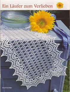 Kira scheme crochet: Scheme crochet no. Crochet Chart, Filet Crochet, Crochet Motif, Crochet Lace, Crochet Table Runner Pattern, Crochet Tablecloth, Doily Patterns, Crochet Patterns, Study Interior Design
