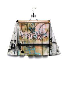 atelierCOLOURVISION Skirt One door at Plaka Athens #art #wearableart #piaschneider #ateliercolourvision #jvgbd #france #madeinfrance #photography #skirt #clothing #fashion #women #röcke #kunst #design #mode #summer #sommerrock