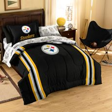 Gentil Steelers Twin Comforter  How Much?!?!?!? Bed Ensemble,