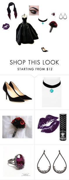 """Cecelia Elizabeth Grayson: Wedding"" by mackenzie-lynn-ann-lilly ❤ liked on Polyvore featuring Jimmy Choo, Topshop, Manic Panic NYC and JoÃ«lle Jewellery"