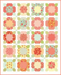 Love this quilt!  Flower girl- Pattern 151 by Thimble Blossoms