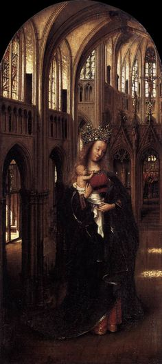 Jan van Eyck, Madonna in the Church, c.1425