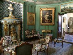 Salón de castillo donde vivió Voltaire en Ferney ( Francia)