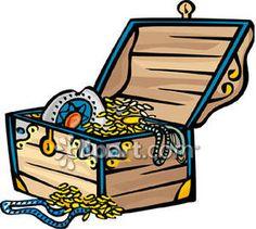 treasure chest treasure chest vector clip art random things i rh pinterest com treasure clipart black and white treasures clip art free images