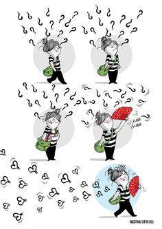 No caigas en la parálisis del análisis; sal, muévete y haz que las cosas cambien by @Paloma del Valle  #frases #quotes  (Ilustración Agustina Guerrero)