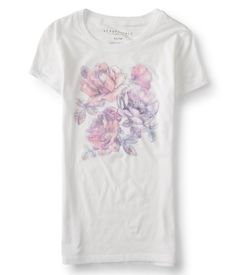 """With curated threads like our Rose Sketch Graphic T in your closet, your unique style is bound to blossom! Its super-soft fabric features the prettiest rose imagery to give it the dreamiest, feminine look. Make sure to pair it with denim shorts and strappy wedge sandals.<br><br>Slim fit. Approx. length (S): 25.5""""<br>Style: 3697. Imported.<br><br>52% cotton, 48% polyester.<br>Machine wash/dry."""