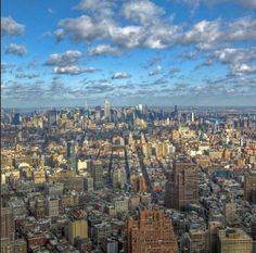 Good morning New York! Heres a view from 1 World Trade Center! #NYscenes