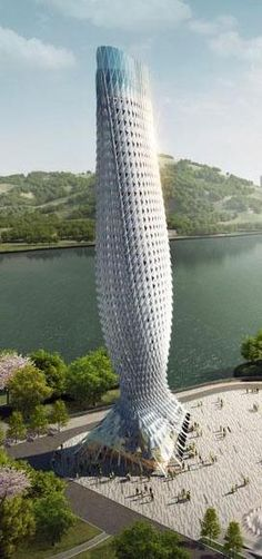 Doumen Observation Tower, Zhuhai, China by RMJM :: height 93m [Futuristic Architecture: http://futuristicnews.com/category/future-architecture/]. Más sobre ciudades y futuro sostenible en www.solerplanet.com
