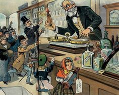A vintage pharmacy, via http://clickamericana.com/eras/1890s/the-cocaine-monster-1898