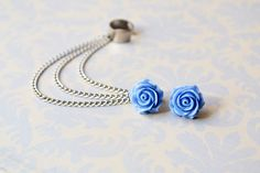 Periwinkle Rose Bloom Triple Chain Silver Ear Cuff Earrings (Pair) by oflovelythings on Etsy https://www.etsy.com/listing/210395540/periwinkle-rose-bloom-triple-chain