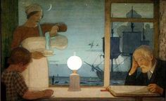The Day of Rest, c.1926 by Frederick Cayley Robinson