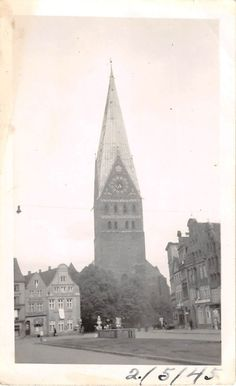 Photograph Snapshot Vintage Black and White Church Steeple Clock Tower 1940'S | eBay