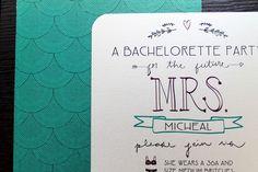 Cute personal invitations! 5 Bachelorette Ideas that Will Wow the Bride