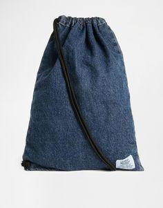 Image 1 - Cheap Monday - Sac à dos avec cordon de serrage - Jean bleu