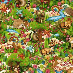 Woodland Friends Forest Multi Paintbrush Studio PREORDER | Fort Worth Fabric Studio