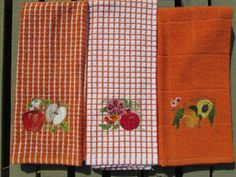 Embroidered Kitchen Towels by TwoSistersStitch on Etsy, $18.00
