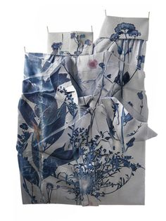 Title: Blouse, x Fine art giclée Print on Hahnemuhle Photo Paper – from original textile installation Shelly Goldsmith. Dye sublimation using archival pressed plants from the Natural History Museum, London Art Textile, Textile Artists, A Level Textiles, Alternative Photography, Textiles Techniques, Motif Floral, Floral Prints, Fabric Art, Cyanotype