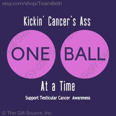 701ef3400b374 Items similar to Testicular cancer awareness kick cancers ass kick cancers  butt orchid ribbon purple ribbon funny cancer humor shirt tank tops april  on Etsy