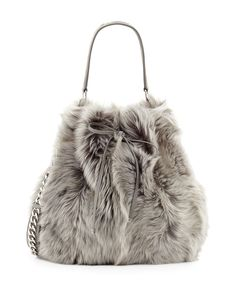 Ralph Lauren Shearling Fur Bucket Bag and other apparel, accessories and trends. Browse and shop 21 related looks. Fall Handbags, Purses And Handbags, Grey Handbags, Beautiful Handbags, Beautiful Bags, Fur Bag, Fur Purse, Fur Accessories, Fabulous Furs