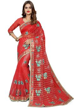#Net #Sarees is one of the #best #indian #ethnic #dress, it is very #classic and #loved by the each and every #womens. #Nikvik is the #bestseller of #net #saree in #USA #AUSTRALIA #CANADA #UAE #UK Net Blouses, Quality Lingerie, Embroidery Saree, Red Saree, Art Silk Sarees, Beautiful Costumes, Fancy Sarees, Indian Attire, Bridal Outfits