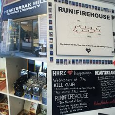 Mango is hanging out at Heartbreak Hill running company in time for its Saturday Firehouse Run #realhydration