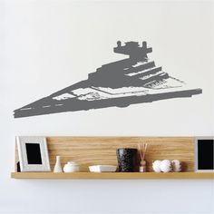 Star Destroyer Wall Decal  _ Star Wars Destroyer Wall Designs _ Star Wars Ship Bedroom Murals _ Star Wars Wall Graphic  _ Trendywalldesigns