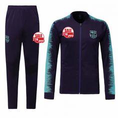Barcelona Training Kits (Green Navy Jacket + Trousers) 2018-19 Model   Goal63730 Youth Tracksuit Cheap on goaljerseyshop.com e4e0d722233de