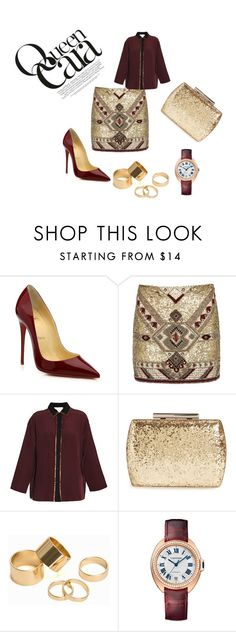 """""""Untitled #37"""" by naida-trumic ❤ liked on Polyvore featuring Christian Louboutin, Alice + Olivia, 8PM, Glint, Pieces, Cartier, women's clothing, women, female and woman"""