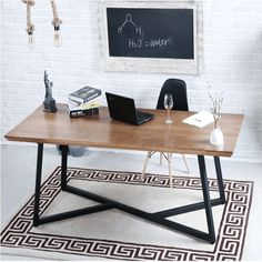 Metal Furniture, Office Desk, Loft, Home Decor, Multifunctional Furniture, Desks, Mesas, Wood, Furniture