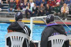 water polo...Katrina #9 and Malia #14