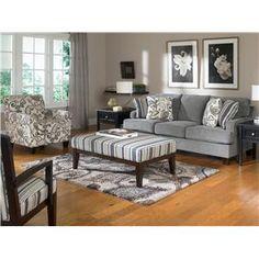 Yvette - Steel Stationary Sofa w/ Loose Seat Cushions by Ashley Furniture - Pilgrim Furniture City - Sofa Hartford, Bridgeport, Connecticut