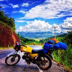 The road to Luang Prabang , Laos