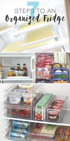 7 Steps To An Organized Fridge! - Follow the tips in this blog post and you'll have the most organized refrigerator in the neighborhood! #organizedfridge #fridgeorganizing #refrigeratororganizing #fridgeorganizingtips #refrigeratororganizingtips #fridgeorganizingideas #refrigeratororganizingideas